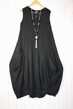 Moonshine Kleid Ballonkleid  Gr 38 40 42  Lagenlook Taschen Schwarz  Neu