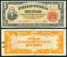 1941 US Philippines 1 Pesos AVIATOR'S  NOTE Treasury Certificate Banknote