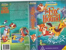 THE FOX AND THE HOUND CLASSIC  WALT DISNEY  VHS VIDEO PAL~ A RARE FIND
