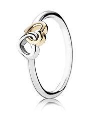 PANDORA Ring  190927 - 54  Herz an Herz 925 Silber & Gold gr.54 neu