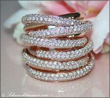 Exzellentes Juwel: Mehrreihiger Brillanten Ring,  2,37 ct. TW-VS RG750 13.500€