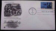 1973 FDC Boston Tea Party Dec 1773 American Revolution 8c Stamp Cover #1483