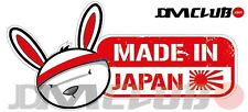 JDM CLUB Official - MADE IN JAPAN Decal - Rabbit Head with English Text