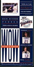 1995 San Diego Padres MLB Baseball Media GUIDE
