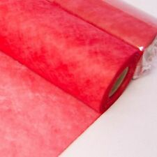 Red floristry fabric wrap spider web non woven 20m roll floral crafts valentine