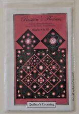 Quilter's Crossing Passion's Flowers Quilt Block of the Month Club No. 9 No. 10