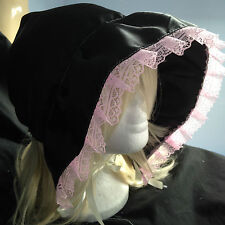 black adult baby adult child victorian satin bonnet sissy fancy dress fetish