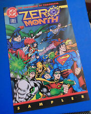 DC Comics SUPERMAN BATMAN etc. 1994 Promo 16pp page booklet Zero Month folder