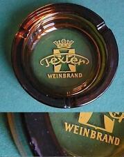aschenbecher glas,texier weinbrand / 14,5cm
