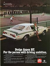 1976 Dodge Aspen R/T For The Person with Driving Ambition Print Ad.