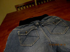 Womens size SMALL  Maternity  Jeans flap pockets pockets  30in inseam
