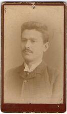 CDV 1880 C.A. RITRATTO DI GENTILUOMO CON BAFFI BY B. LAURO NAPOLI RIF 1352