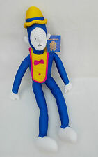 Cirque Du Soleil Clown Doll Soft Plush Cuddly Toy Teddy with Tag Blue Clown