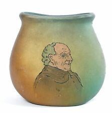 """WELLER MARKED 5 1/4"""" DICKENS WARE 2nd LINE MONK PILLOW VASE CIRCA 1905"""
