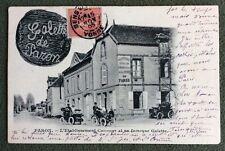 CPA. PARON. 89 - Établissement CHICOURT et sa fameuse GALETTE. 1905. Automobiles