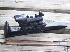 Handcrafted in Kentucky from Coal Train Engine on a Railroad Spike Figurine