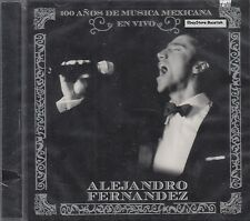 Alejandro Fernandez 100 Anos De Musica Mexicana En Vivo CD New Sealed