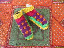 Childs socks slippers Pure wool fully lined Nepal handicraft Warm as!