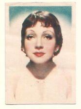 1936 Spanish Nestle Film Star Paper Thin Stamp Sticker #7 Claudette Colbert