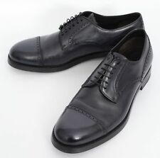 Mens BRIONI Paul Sart Navy Leather Brogue Captoe Oxford Shoes US 9 1/2 D
