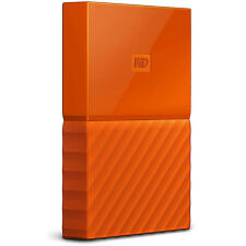 Western Digital WD 3TB My Passport Portable Hard Drive - Orange
