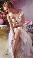 """Pino """"Angelica"""" Beautiful lady partial nude Giclee Canvas Hand signed#COA 42x24"""