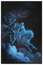 DEATH RIDES A PALE HORSE - BLACKLIGHT POSTER - 24X31 SKELETON GOTHIC 21