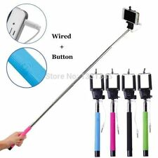 Extendable All In One Selfie Stick With 3.5m Aux Cable For Iphone, Android Black
