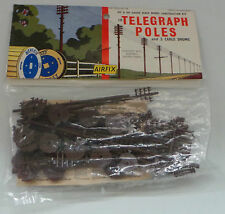 TRAINS : TELEGRAPH POLES H0 & 00 GAUGE SCALE MODEL KIT MADE BY AIRFIX