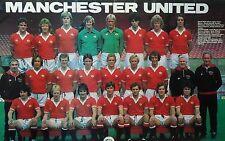MAN UTD FOOTBALL TEAM PHOTO 1979-80 SEASON