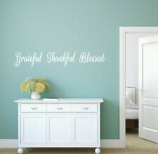 Grateful, Thankful, Blessed, Vinyl, Wall, Decal, Kitchen, Room, Home, Decor