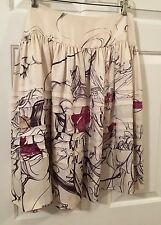 2008 Iconic Prada James Jean Fairy Print Silk Skirt Size 44