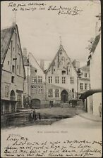 RUSSIA - ESTONIA 1906 PC Glaser Postcard Reval - Moscow old swedish market View