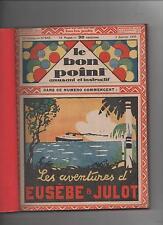 LE BON POINT. 1929. 1er  semestre, album broché n°840 à 864