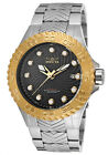 New Men's Invicta 12923 Pro Diver Automatic Black Textured Dial Steel Watch