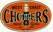 Choppers West Coast  Aufkleber/Sticker/Oldschool/Bobber/US Car/V8/Bike/Retro