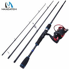 """Spinning Rod and Reel Combo 7'9"""" Carbon Fiber Fishing Rod + X2000 Spinning Reel"""