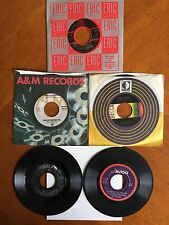 """Lot of Five """"Top Hits of the 1970's"""" 45 Records"""