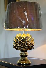 HEAVY GOLD Black X Large Shabby Chic Artichoke Ornamental ART DECO Table Lamp