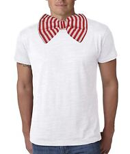 Adults Red & White Candy Stripe Giant Bow Tie Funny Clown & Circus Fancy Dress