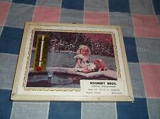 1963 Calendar Thermometer Picture Rogneby Bros. Augusta Wis General Merchandise