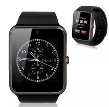 BNIB LATEST TOUCH SCREEN SMART FITNESS WATCH GIFT CONNECT APPLE ANDRIOD BLACK