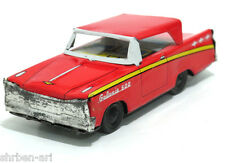 "Vintage MANSEI HAJI Ford Galaxie 500 Car Friction Toy Metal Tin 5"" Japan 60's"