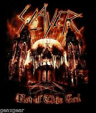 SLAYER cd lgo NOT OF THIS GOD Official SHIRT LAST 2X New world painted blood oop