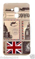 Custodia Cover IMD FRANCOBOLLO LONDON Case GEL TPU Morbida per Huawei 5c GT3