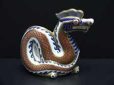 Royal Crown Derby Imari DRAGON Figurine Paperweight - Gold Button