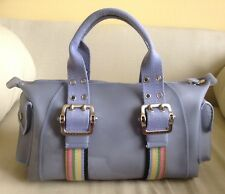 Franco Sarto Lavender Purple Jelly Satchel Handbag w/ Multi-color Ribbon Trim