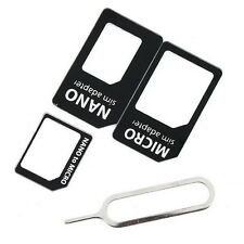 4 in 1 SIM Card Adapter Kit For iPhone 5 6 5S 6S Plus iPad HTC LG Samsung Sony