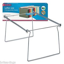 Smead Steel Hanging Letter File Folder Drawer Frames - 2 pk