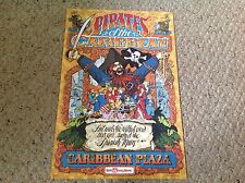 "New Disney Poster.  12"" X 18"".  Pirates of the Caribbean.  Caribbean Plaza."